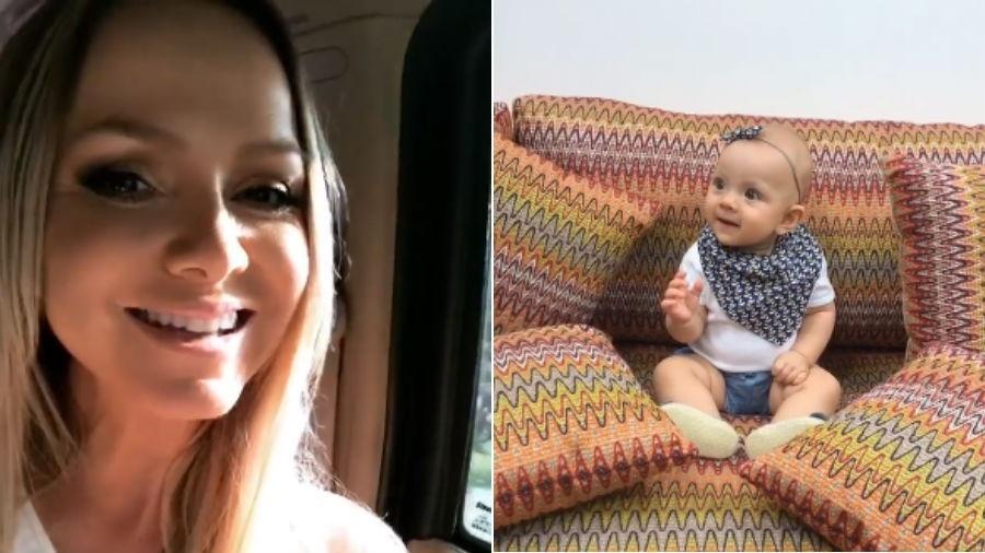 Eliana leva a filha, Manuela, ao trabalho - Reprodução/Instagram