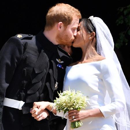 O beijo de Harry e Meghan Markle - Getty Images