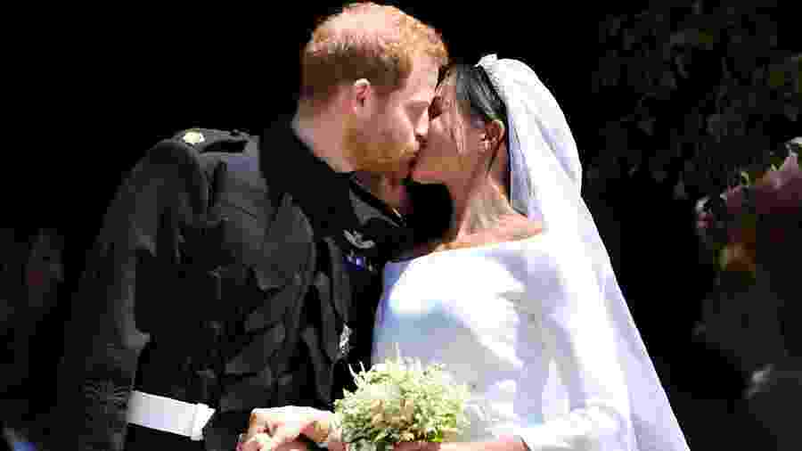 O beijo de Harry e Meghan Markle - Getty Images
