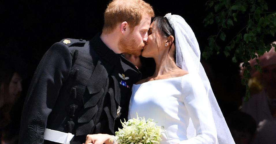 O beijo de Harry e Meghan Markle