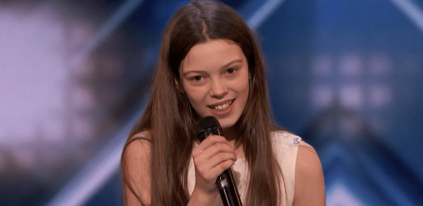 "Courtney Hadwin, que brilhou no programa ""America's Got Talent"""