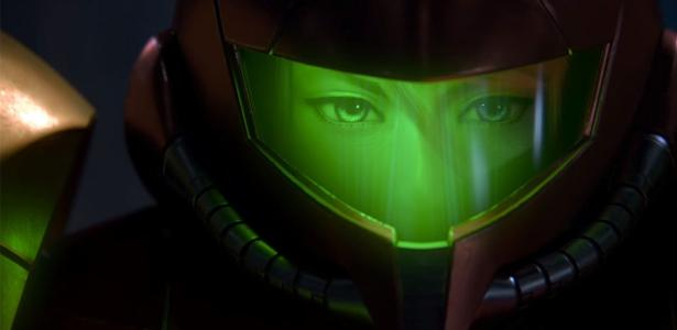 Samus Aran em cinemática de Super Smash Bros. Ultimate