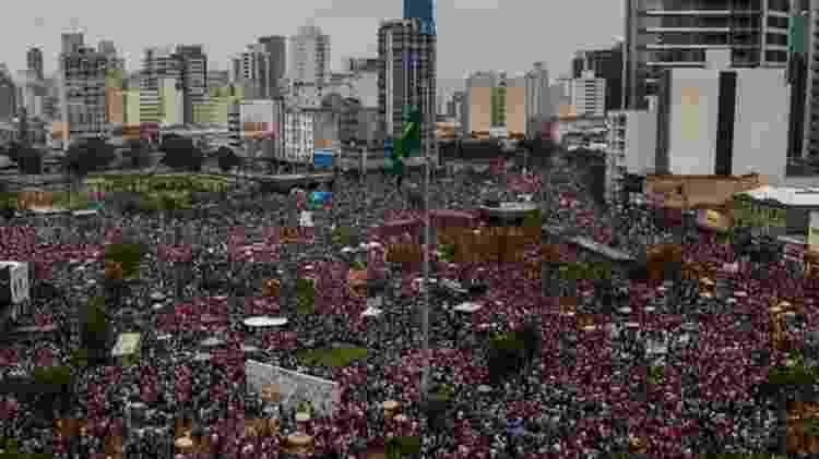 Manifestação liderada por mulheres lotou Largo da Batata, em São Paulo - AFP - AFP