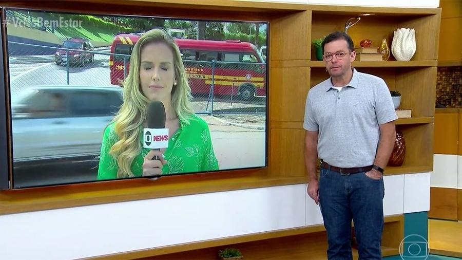 """Mariana Ferrão e Fernando Rocha se emocionam no """"Bem Estar"""" ao falar de Brumadinho - Reprodução/Globo"""