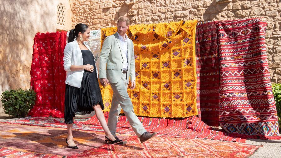 Meghan Markle e o príncipe Harry em Rabat - Reuters