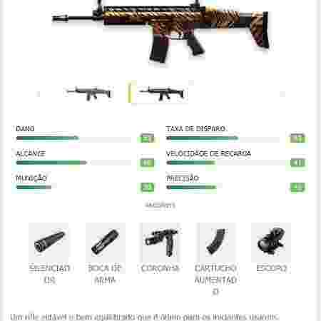 Free Fire arma - Reprodução - Reprodução