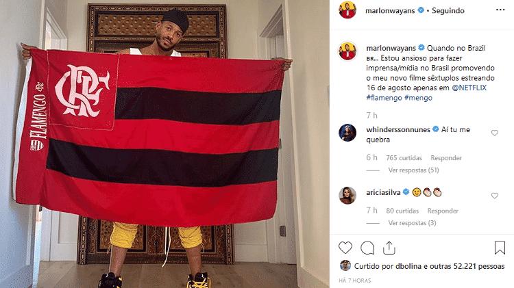 "Whindersson Nunes ""corneta"" foto de Marlon Wayans - Reprodução/Instagram/marlonwayans - Reprodução/Instagram/marlonwayans"
