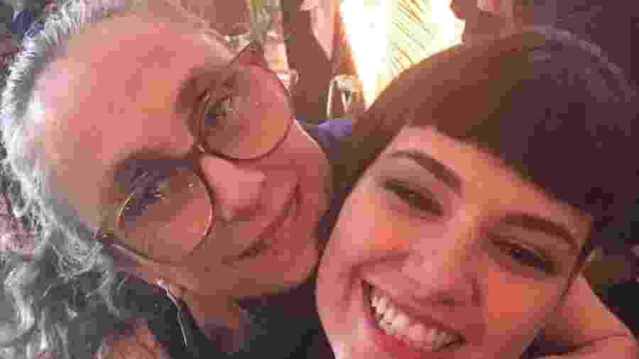 """Betty Gofman e Verônica Debom nos bastidores de """"Órfãos da Terra"""" - Reprodução/Instagram"""