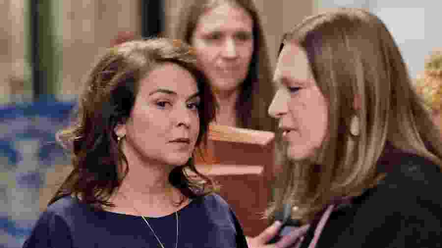 Annabella Sciorra chega ao tribunal para testemunhar contra Harvey Weinstein - Lucas Jackson/Reuters