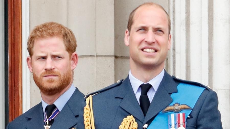 Os príncipes Harry e William - Max Mumby/Indigo/Getty Images