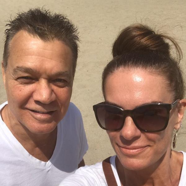 Eddie Van Halen com a mulher, Janie Liszewski