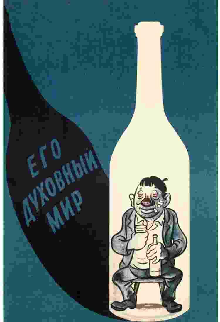 Cartazes soviéticos antiálcool 05 - Reprodução - Reprodução