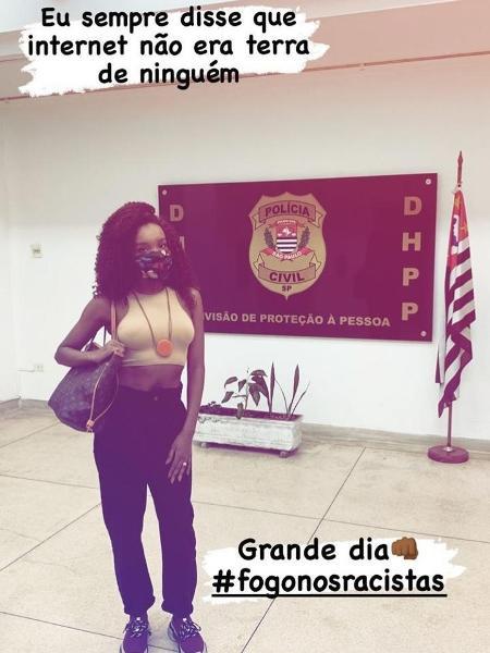 Thelma Assis foi ao Departamento de Homicídios e de Proteção à Pessoa (DHPP) - Reprodução / Instagram