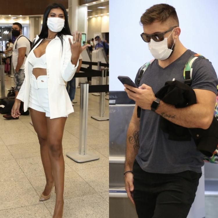 Pocah e Arthur embarcam no aeroporto Santos Dumont, no Rio - ROBERTO FILHO / BRAZIL NEWS