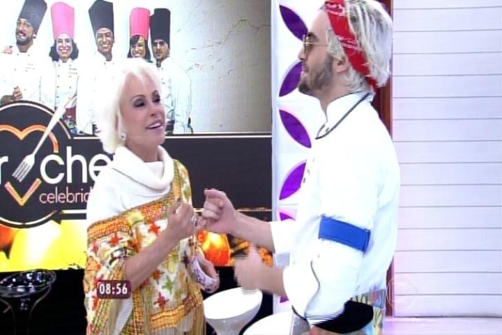 Ana Maria Braga e Fiuk fazem as pazes