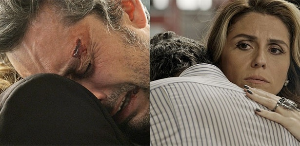 Romero chora no ombro de Atena após Djanira levar um tiro