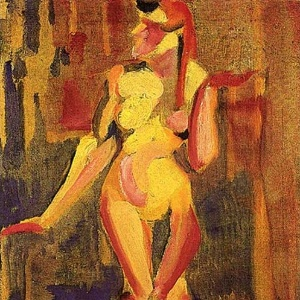 """Nu cubista nº 1"" (1915), pintura de Anita Malfatti - Reprodução"