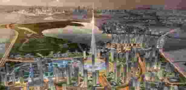 O novo edifício promete ser mais alto do que o arranha-céu Burj Khalifa - Divulgação/Emaar Properties