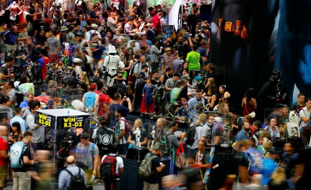 21.jul.2016 - Público enche o centro de convenções onde acontece a San Diego Comic-Con 2016
