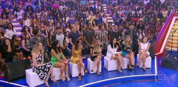 """Huck anuncia participantes do Saltibum, quadro de saltos ornamentais do """"Caldeirão"""" - Reprodução/TV Globo"""