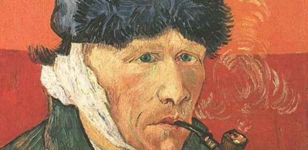 Em um de seus auto-retratos, Vincent Van Gogh aparece com a orelha cortada - Divulgação