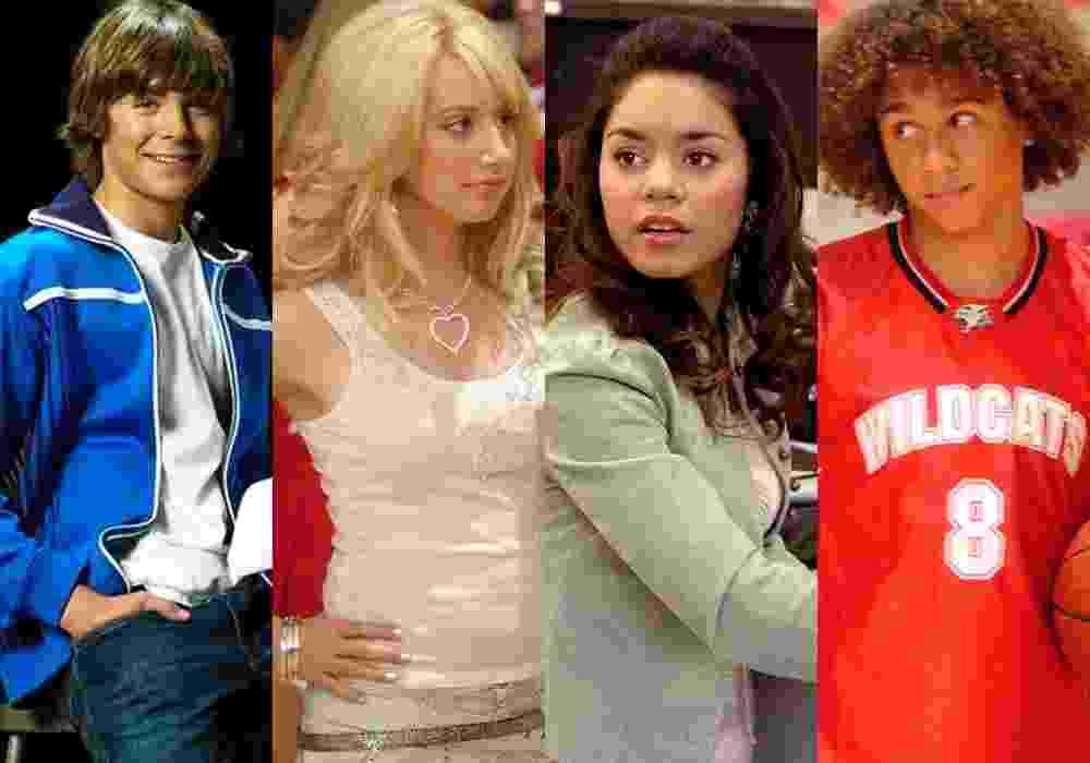 """Cenas de """"High School Musical"""" (2006) - Divulgação/Montagem"""