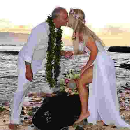 Kadu Moliterno e Cristianne Rodriguez se casaram no Havaí  - Divulgação/MF Assessoria