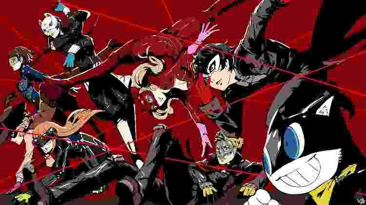 """O visual dos heróis de """"Persona 5"""" é um dos mais estilosos dos últimos anos - Divulgação"""