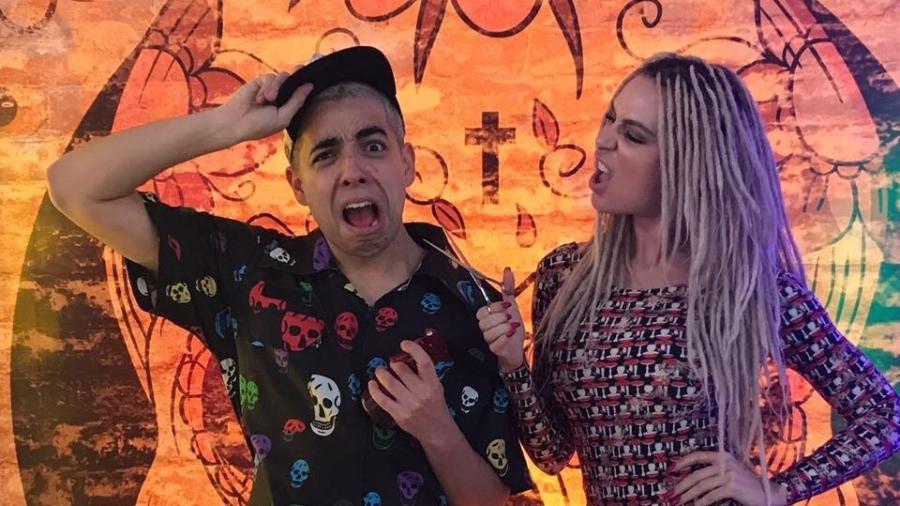 """Lucas Selfie e Fernanda Lacerda, a Mendigata, do """"Pânico""""  - Divulgação"""