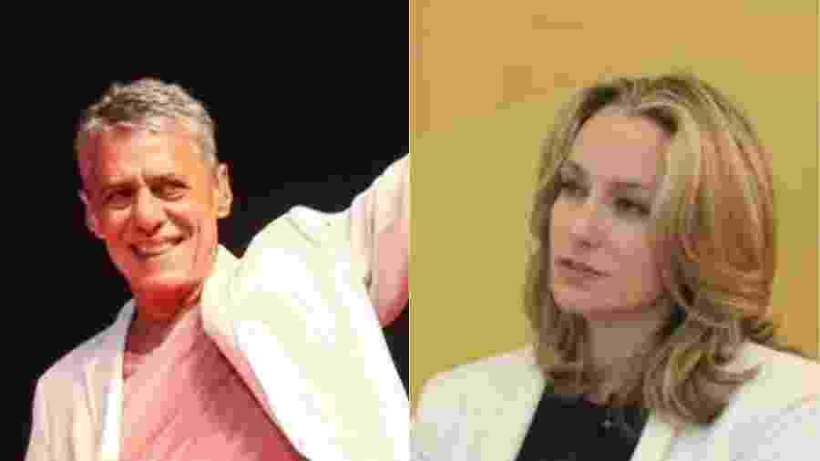 Chico Buarque de Hollanda e Caroline Proner estão juntos há três meses. Ela é curitibana, tem 42 anos e é mãe de dois jovens  - UOL/Divulgação ANDES/MontagemUOL