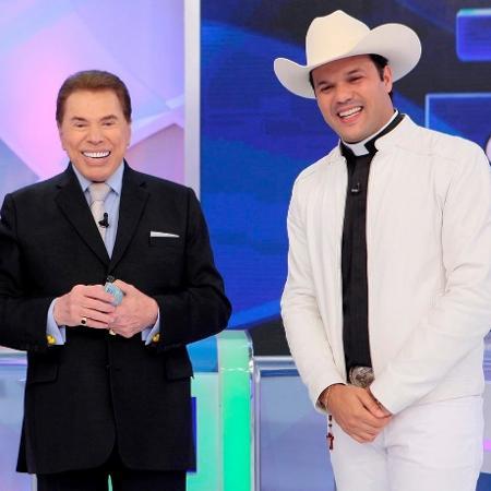 Silvio Santos recebeu o padre sertanejo Alessandro Campos em seu programa - Divulgação/Lourival Ribeiro/SBT
