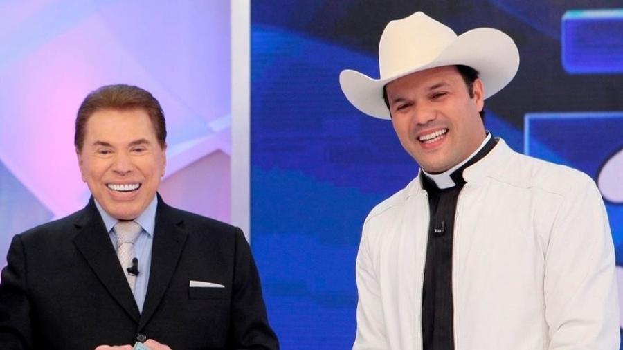 Silvio Santos recebeu o padre sertanejo Alessandro Campos em seu programa no ano passado - Divulgação/Lourival Ribeiro/SBT