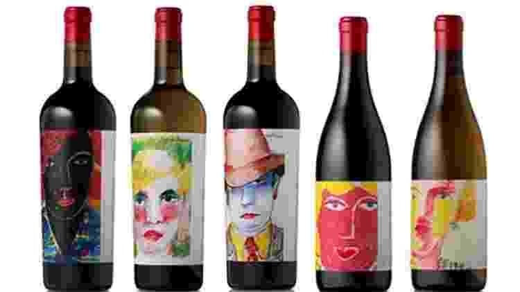 Garrafas de vinho com rostos no rótulo - Reprodução/Universidade do Oregon - Reprodução/Universidade do Oregon