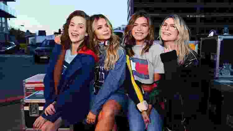 Sophia Abrahão, Thássia Naves, Mariana Goldfarb e Julia Faria compareceram à semana de moda inglesa - Luiza Ferraz/Divulgação - Luiza Ferraz/Divulgação