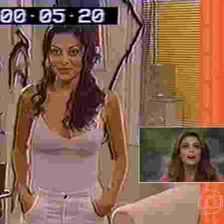 """Juliana Paes revê primeiro teste dela na Globo, aos 19 anos, no """"Vídeo Show"""" - Reprodução/TV Globo - Reprodução/TV Globo"""