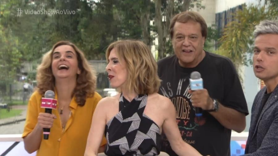 """Dennis Carvalho apareceu na gravação do quadro """"Meu Vídeo é um Show"""" - Reprodução/TV Globo"""