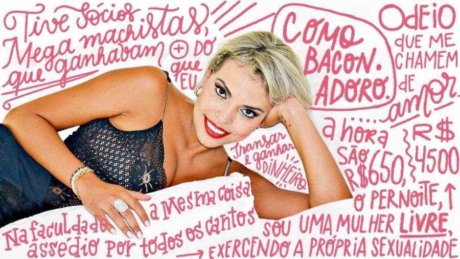 A ex- advogada e prostituta Cláudia de Marchi - Divulgação/Arte UOL