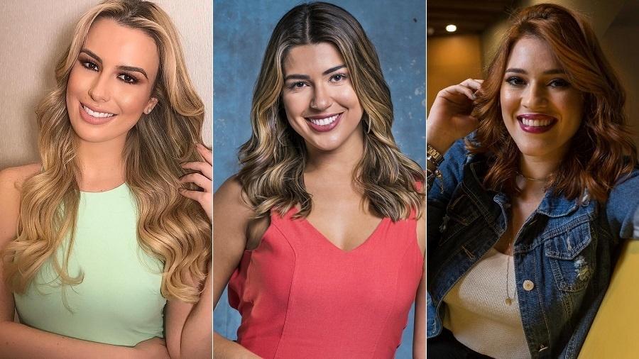 """Ex-BBBS Fernanda Keulla e Vivian Amorim, no """"Vídeo Show"""", e Ana Clara Lima faz reportagens - Montagem/UOL"""