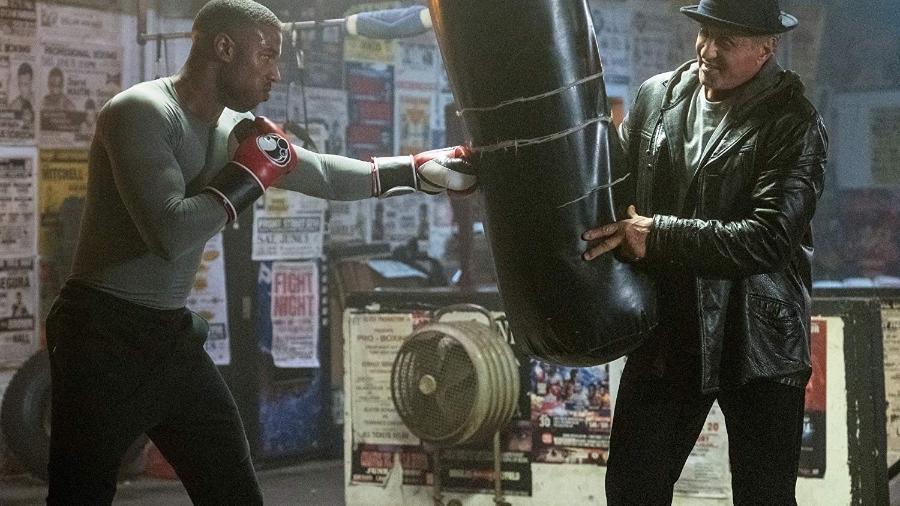 """Sylvester Stallone e Michael B. Jordan em cena de """"Creed II"""" (2018) - Divulgação"""
