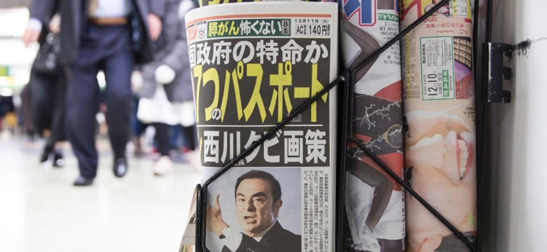 Jornal japonês relata novos detalhes sobre a prisão de Carlos Ghosn - Tomohiro Ohsumi/Getty Images