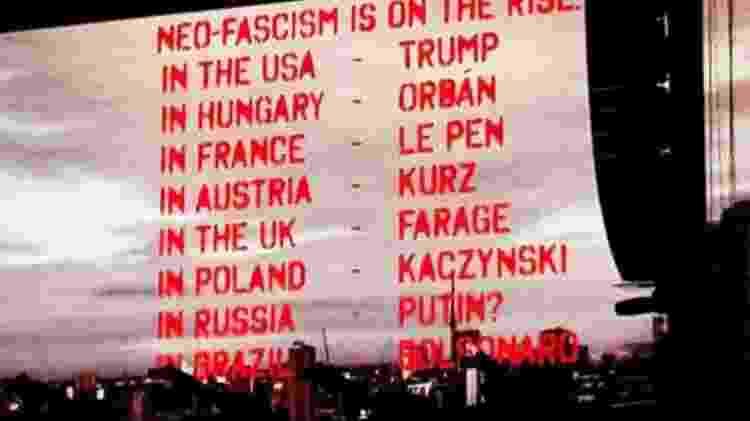 Em show em São Paulo, Roger Waters inclui Jair Bolsonaro em lista de políticos neofascistas  - Reprodução - Reprodução
