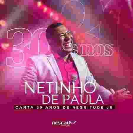 """Capa do álbum """"Netinho canta 30 anos de Negritude Jr"""" - Divulgação - Divulgação"""