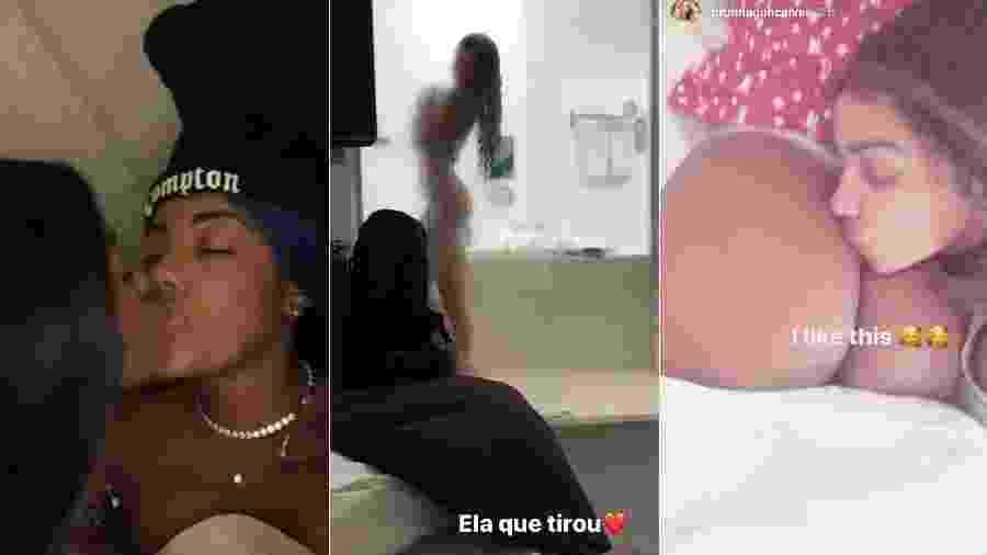 Algumas fotos compartilhadas por Ludmilla e a namorada, Brunna Gonçalves: momentos de carinhos e até clique durante banho - Reprodução/Instagram