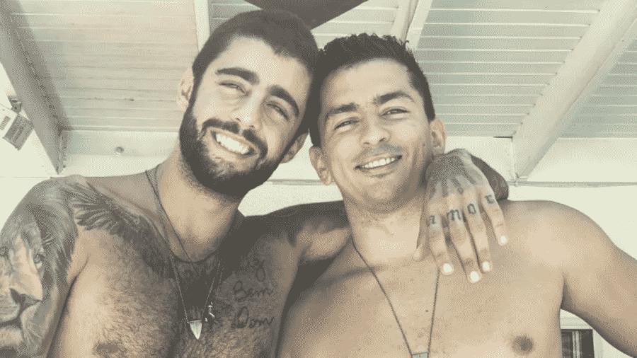 Pedro Scooby e Renan Machado, irmão de Anitta - Reprodução/Instagram
