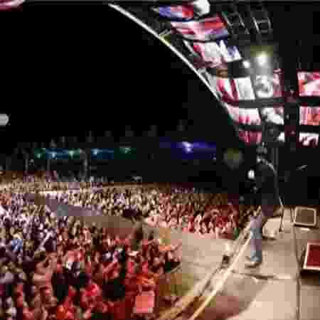 Muro separa plateia em show de Gusttavo Lima - Reprodução/SBT