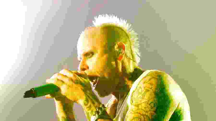 Keith Flint durante apresentação no Apollo Manchester, em 2017, na Inglaterra - Getty Images