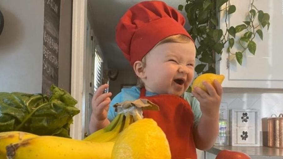 """Kobe, o """"bebê chef de cozinha"""" - Reprodução / Instagram"""
