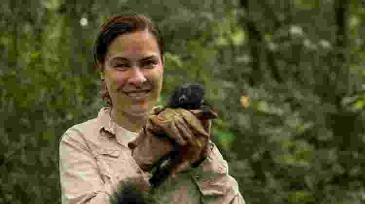 A bióloga Gabriela Rezende responde pelo Programa de Conservação do Mico-Leão-Preto no Pontal do Paranapanema. Pelo seu trabalho, a bióloga ganhou este ano o prestigiado prêmio ambiental Whitley Award - Instituto de Pesquisas Ecológicas (Ipê) - Instituto de Pesquisas Ecológicas (Ipê)