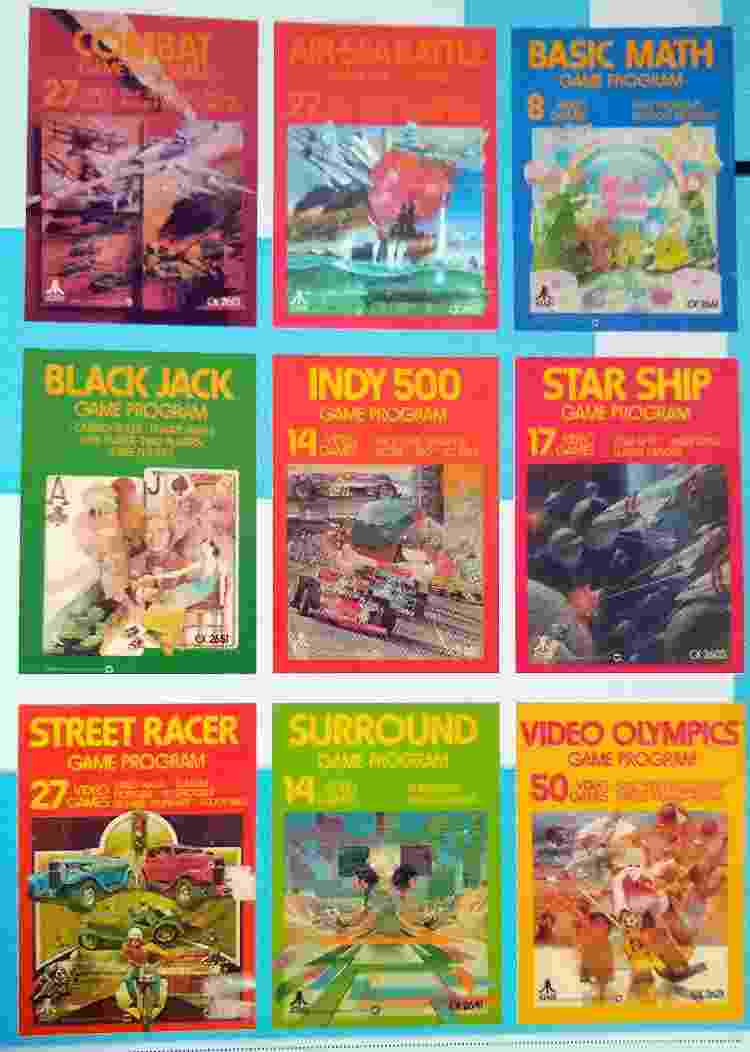 Os primeiros games do Atari VCS. - Reprodução/High Score! The illustrated history of electronic games - Reprodução/High Score! The illustrated history of electronic games