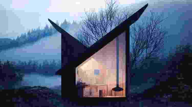 The Mountain Refuge é um projeto criado por dois arquitetos de um estúdio italiano para criar uma cabana estruturada para experiências no isolamento - Reprodução/Instagram/@themountainrefuge - Reprodução/Instagram/@themountainrefuge